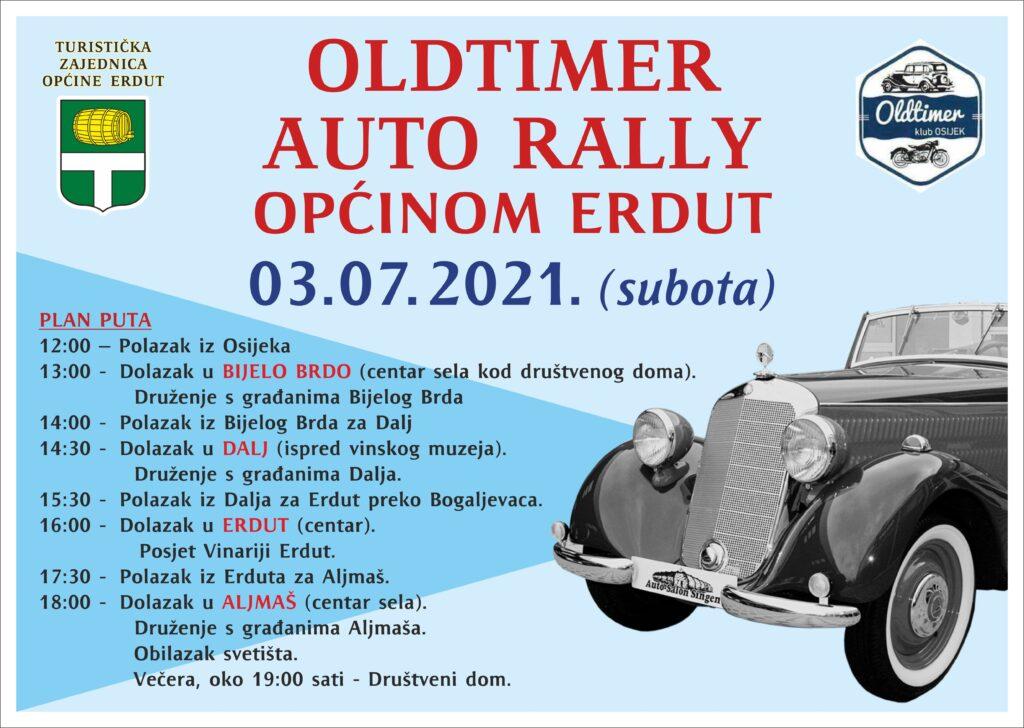 Oldtimer auto rally općinom Erdut 3.7.2021. (subota)